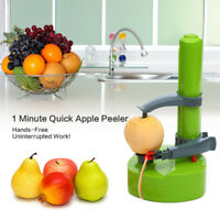 Electric Automatic Fruit Apple Pear Potato Vegetable Peeler Cutter Slicer