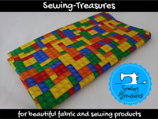 Building Blocks ~ Printed Cotton Lycra Fabric Stretch Knit Fabric