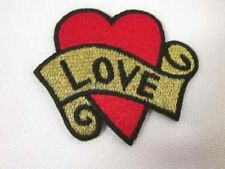 Love Heart Tattoo Iron On Applique Patch 002
