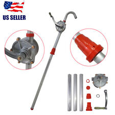 Aluminum Alloy Rotary Gas Oil Fuel Hand Pump 55 Gallons Self Priming Dispenser