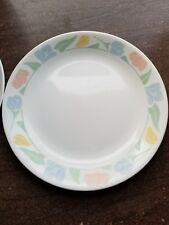 "Corelle Livingware Friendship 10.25"" Tulips Dinner Plate REPLACEMENT (2)"