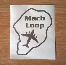 Mach Loop car sticker with a USAF/RAF C-17 Globemaster aircraft Silhouette