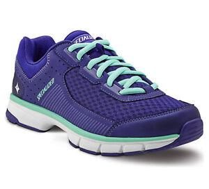 Specialized EU 36 US 5.75 Women's Cadette Spin Shoe Indigo/Lt Teal/Wht Green New