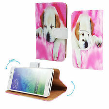 THL T6C - Smartphone Schutzhülle / Handy Tasche 360° Grade - Hund 1 M