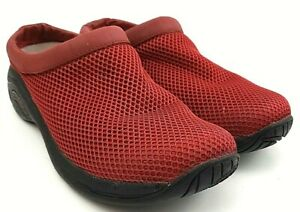Merrell Primo Breeze Banner Red Mesh Clogs Slides Slip On Shoes Women's Size 9