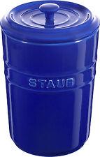 Staub Keramik 2er Set Vorratsdose Frischhaltedose Aufbewahrungsbehälter Dunkelbl