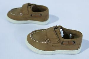 The Children's Place Toddler Boy's Hook And Loop Boat Shoes MP7 Tan Size US:7