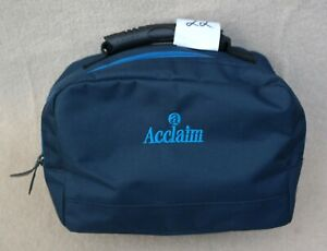 ACCLAIM Thirsk Mini Two Bowls Bowling Bag Navy/Sky Nylon Fabric Ex Display (22)