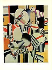 "1976 Vintage FERNAND LEGER ""MECHANICAL ELEMENTS"" LOVELY COLOR offset Lithograph"