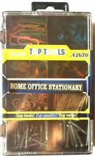 150 PC Home Office stationnaire Assortiment Papier Clips Pins Mix accessoires-W3...