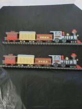 beautiful retro hard plastic train wall hangings