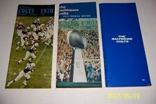 1970 71 72 BALTIMORE COLTS Yearbook MEDIA GUIDE Set of 3 JOHNNY UNITAS Mackey