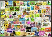 SINGAPORE-100 All Different-Used Thematic Genuine Stamps, Large & Small