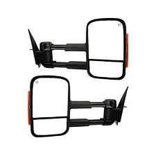 New Set of 2 Heated LED Turn Signal Towing Mirror Set for Chevy Silverado Pair
