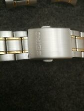 SEIKO Two-Tone Stainless Steel Watch Bracelet (20mm Lug Width)new with defects