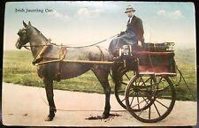 Novelty Postcard IRISH JAUNTING CAR 32 Counties Ireland 12 Views Eason Signal Sr