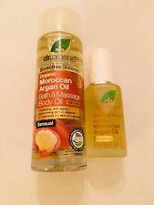 Dr Organic Morrocan Argan Oil Facial Oil & Bath and Massage Oil *Brand New*