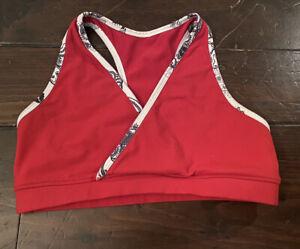 Lululemon Women's Sports Bra Size 8 Red