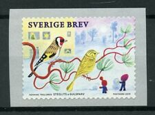 Sweden Birds on Stamps 2019 MNH Christmas Finches Goldfinch 1v S/A Coil Set