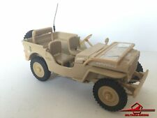 """CARARAMA, JEEP WILLYS ARMY MILITARY TRUCK """"2049863S"""" Desert D-Day - Scale 1:43"""