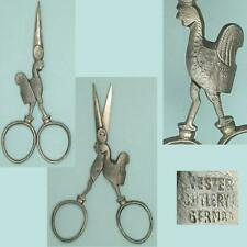 Antique Figural Rooster Steel Embroidery Scissors * Germany * Circa 1900s