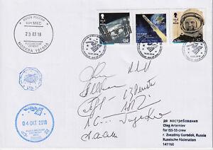 Insel Man Weltraumpost zur Raumstation ISS geflogen Autogramme Fotoattest BPP