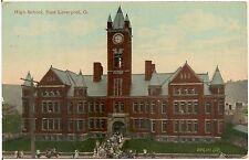 High School in East Liverpool OH Postcard