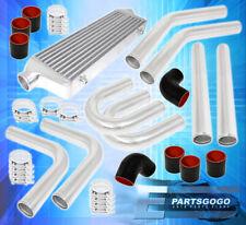 "Aluminum Turbo 27.5"" X 7.25"" X 2.5"" Front Mount Intercooler+8Pc Custom Pipe Kit"