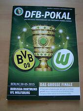 Stadionmagazin DFB-POKAL BVB 09-VfL Wolfsburg++mit Poster