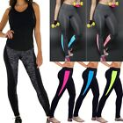 US Womens Trousers Yoga Sports Running Outfit Pants Fitness Gym Leggings S035