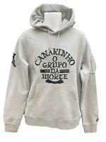 NEW NIKE Sportswear NSW Vintage Brasil CANARINHO Cotton Pullover Hoodie Grey M