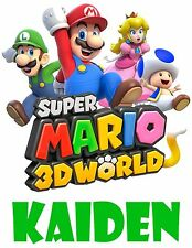 Super Mario Bros 3D Custom T Shirt Party Favor Birthday Gift Personalize Name