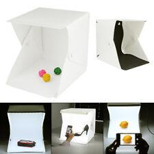 Double LED Light Room Photo Studio Photography Lighting Tent Backdrop Cube Box
