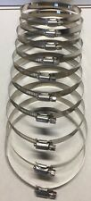 "4""- 5"" Sae #72 100% Stainless Steel Worm Gear Hose Clamps Marine Grade - 10 pcs"