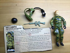 Vintage 1984 GI Joe HALO Jumper RIPCORD Figure Complete W/ Filecard