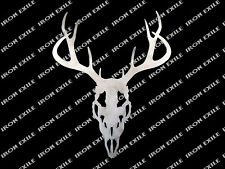 Deer Buck Skull Head Metal Art Wall Sign Cabin Hunting Lodge Decor USA Made