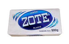 Zote WHITE Laundry Soap Washing Clothes  Detergent Kitchen Jabon BLANCO 7 oz Bar