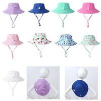 Summer Cap Baby Girls UPF 50+ Sunscreen Protective Wide Brim Swim Beach Sun Hat