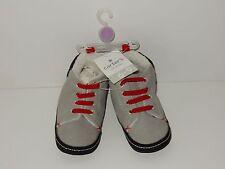 Carters 6-9M Boys Crib Shoes ~ Grey & Black  **NEW W/TAGS**