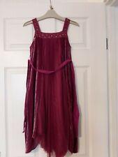 Gorgeous Girls Burgundy Monsoon Party Dress 7-8 Years