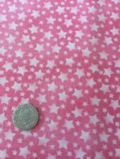 Makower Baby Star Pink Cotton Quilting Fabric FQ 50cm X 54cm Stars