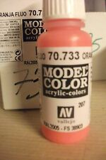 ACRYLIC MODEL PAINTS 17ml VAL733  AV Vallejo Model Color - Fluorescent Orange