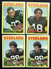 LOT OF 4 TOPPS 1972 PITTSBURGH STEELERS FOOTBALL CARDS.  NICE CARDS!