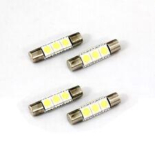 4pcs 1W 3-SMD 5050 LED  Light 31mm Festoon Car Reading Lamp Sun Visor Lamp White