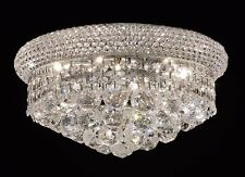 "Palace Bangle 12"" Crystal Chandelier Flush Mount Ceiling Light Chrome"