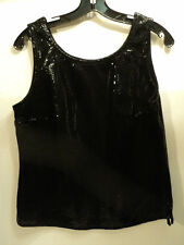 """FABULOUS DOUBLE D RANCHWEAR LEATHER """"DUNDEE TANK"""", BLACK, SIZE SMALL - NWT"""