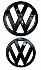 VW VOLKSWAGEN GOLF GTI R 7 MK7 GLOSS BLACK FRONT GRILL & REAR BOOT BADGE EMBLEM