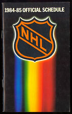 1984-84 nhl hockey official schedule unmarked and nm condition 32 pages
