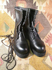 NEW BLACK LEATHER ADDISON STEEL CAP TOE SAFETY BOOT SIZE 7 R US MADE IN USA
