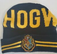 Harry Potter Hogwarts Houses Patch Logo Adult Beanie Cap Hat One Size Fits Most